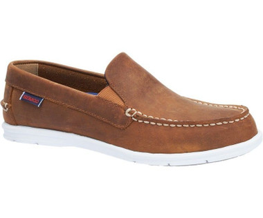 Sebago Women's Litesides Slip-on (Medium Brown Leather) B411984