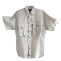 Hook & Tackle® Men's Dry Tortugas Shirt M01005S Sand - Front