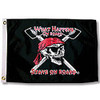 "Taylor Made 12"" x 18"" Pirate Head Nylon Flag - What Happens  1802"