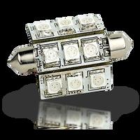 Lunasea Pointed Festoon 9 LED Light Bulb 270 Degree - 42mm  LLB-189C-21-01  LLB-189W-21-01