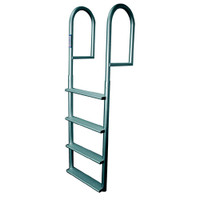 JIF Marine Stationary Aluminum Dock Ladder - Wide Steps DJV4-W DJV5-W