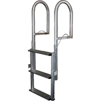 JIF Marine 5-Step Aluminum Retractable Dock Lift Ladder DJX5