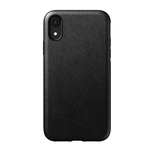 Nomad Horween Leather Rugged Case iPhone XR - Black