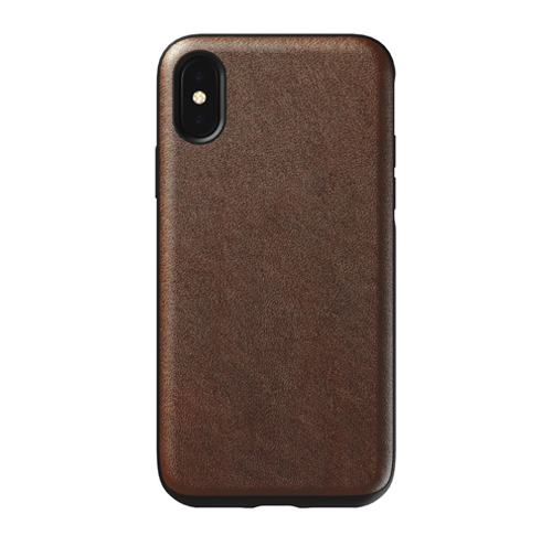 Nomad Horween Leather Rugged Case iPhone X/Xs - Rustic Brown
