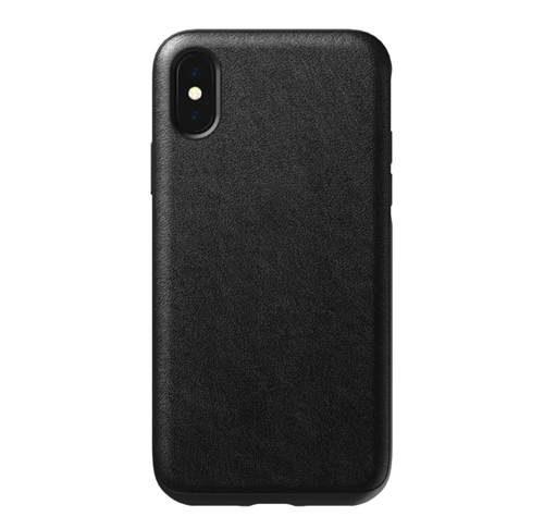 Nomad Horween Leather Rugged Case iPhone X/Xs - Black