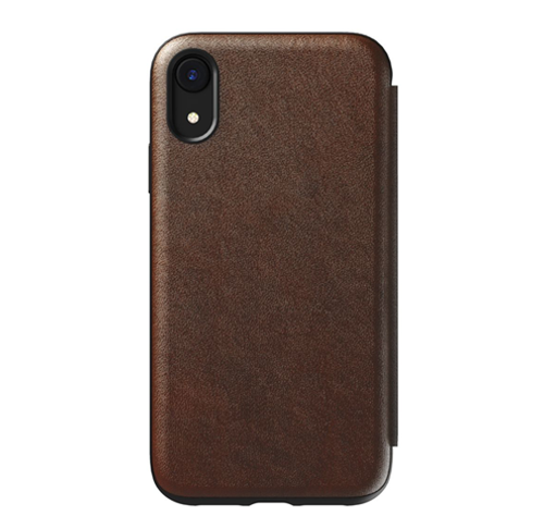 Nomad Horween Leather Rugged Folio Case iPhone XR - Rustic Brown