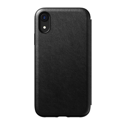 Nomad Horween Leather Rugged Folio Case iPhone XR - Black