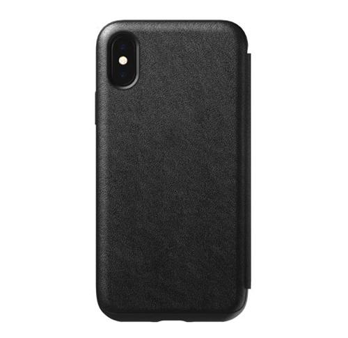 Nomad Horween Leather Rugged Folio Case iPhone X/Xs - Black