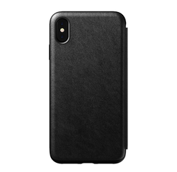 Nomad Horween Leather Rugged Folio Case iPhone Xs Max - Black