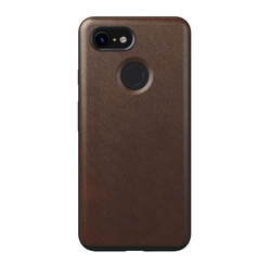 Nomad Horween Leather Rugged Case Google Pixel 3 - Rustic Brown