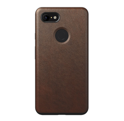 Nomad Horween Leather Rugged Case Google Pixel 3 XL - Rustic Brown