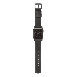 Nomad Horween Leather Strap Apple Watch 38/40mm - Slate Grey (Black hardware)