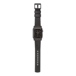 Nomad Horween Leather Strap Apple Watch 42/44mm - Slate Grey (Black hardware)