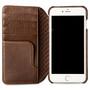 Vaja Wallet Agenda Leather Case iPhone 7+ Plus - Bridge Tabaco