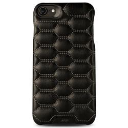 Vaja Grip Matelasse Leather Case iPhone 7 - C Black w Grey thread