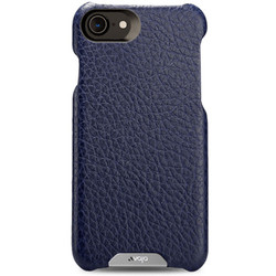 Vaja Grip Leather Case iPhone 7 - Crown Blue/True Blue