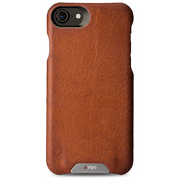Vaja Grip Leather Case iPhone 7 - Bridge Saddle Tan