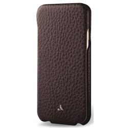 Vaja Top Leather Case iPhone 7 - Dark Brown/Birch