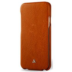 Vaja Top Leather Case iPhone 7 - Bridge Saddle Tan
