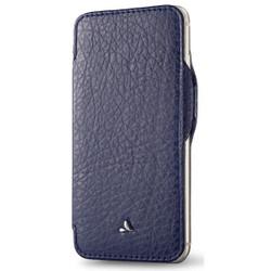 Vaja Nuova Pelle Leather Case iPhone 7 - Crown Blue