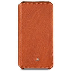 Vaja Niko Wallet Leather Case iPhone 7 - Bridge Saddle Tan