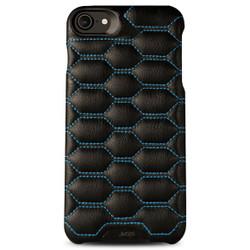 Vaja Grip Matelasse Leather Case iPhone 7 - C Black with Blue thread