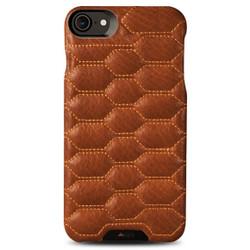 Vaja Grip Matelasse Leather Case iPhone 7 - B Saddle Tan with Tan thread