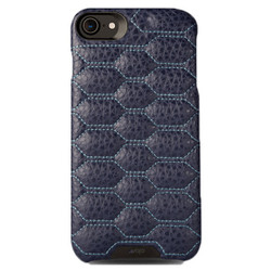 Vaja Grip Matelasse Leather Case iPhone 7 - F Crown Blue with L Blue thread