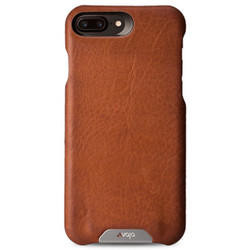 Vaja Grip Leather Case iPhone 7+ Plus - Bridge Saddle Tan