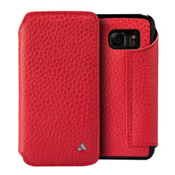 Vaja Leather Agenda Case Samsung Galaxy S7 - High Risk Red