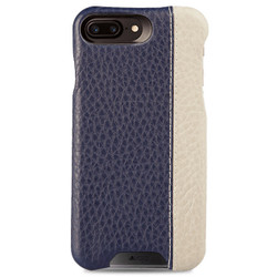 Vaja Grip LP Leather Case iPhone 8+/7+/6+/6S+ Plus - Floater Crown Blue/Floater Latte