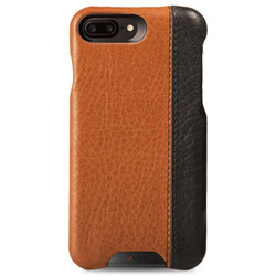 Vaja Grip LP Leather Case iPhone 7+ Plus - Bridge Saddle Tan/Bridge Black