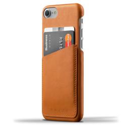Mujjo Leather Wallet Case iPhone 7 - Tan