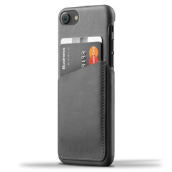 Mujjo Leather Wallet Case iPhone 8/7 - Grey
