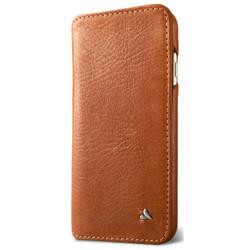 Vaja Wallet Agenda Leather Case iPhone 7+ Plus - Bridge Saddle Tan