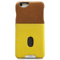 Vaja Grip ID Leather Case iPhone 6/6S - Orange/Freesia