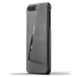 Mujjo Leather Wallet Case iPhone 8+/7+ Plus - Grey