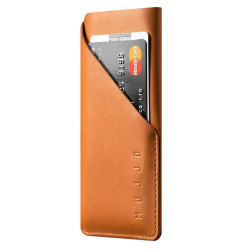 Mujjo Leather Wallet Sleeve Case iPhone 7 - Tan