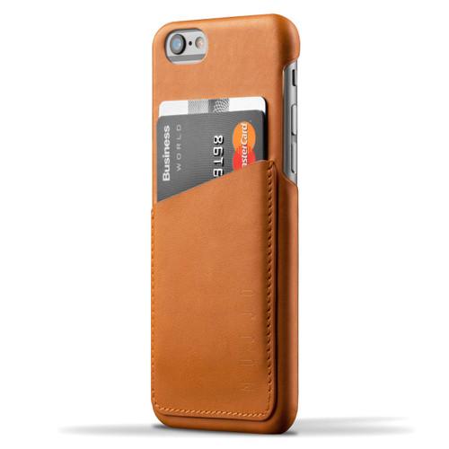 Mujjo Leather Wallet Case iPhone 6/6S - Tan
