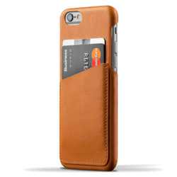 Mujjo Leather Wallet Case iPhone 6/6S - Tan