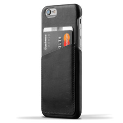 Mujjo Leather Wallet Case iPhone 6/6S - Black