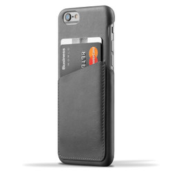 Mujjo Leather Wallet Case iPhone 6/6S - Gray