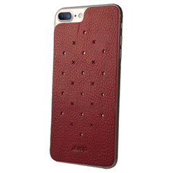 Vaja Leather Back Case iPhone 7+ Plus - Bridge Chili