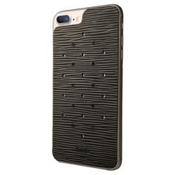 Vaja Leather Back Case iPhone 7+ Plus - Legno Nero