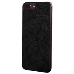 Vaja Leather Back Case iPhone 7+ Plus - Foglie Black