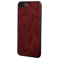 Vaja Leather Back Case iPhone 7+ Plus - Foglie Chili