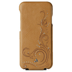 Vaja Top Crystal Leather Case iPhone 7 - London