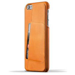 Mujjo Leather Wallet Case 80° iPhone 6+/6S+ Plus - Tan