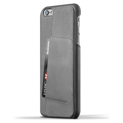Mujjo Leather Wallet Case 80° iPhone 6+/6S+ Plus - Gray