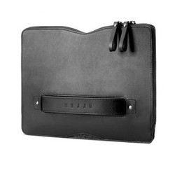 "Mujjo Carry-On Folio Sleeve Case Macbook 12"" - Black"